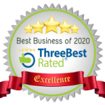 CK Health and Wellbeing - Best Business of the Year Excellence Three Best Rated Ribbon Badge
