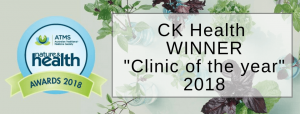 CK Health and Wellbeing - Clinic of the Year Local Naturopath Cody Kennedy by Australian Traditional Medicine Society Banner Big