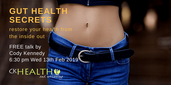 CK Health and Wellbeing Events - Gut Health Secrets - Woman Stomach in Blue Jeans