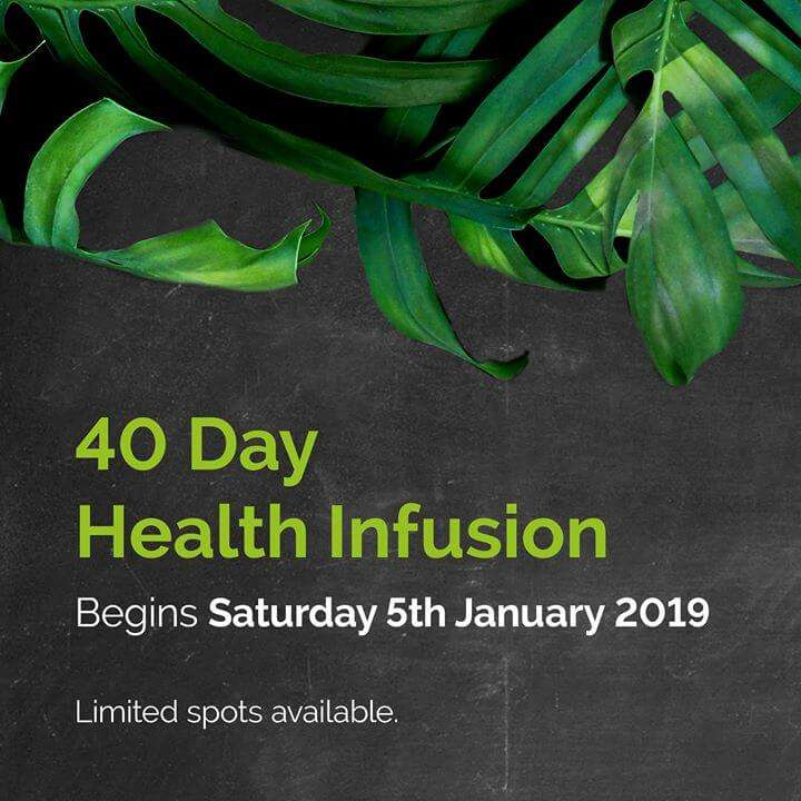CK Health and Wellbeing Events - Health Infusion Banner with Leaves