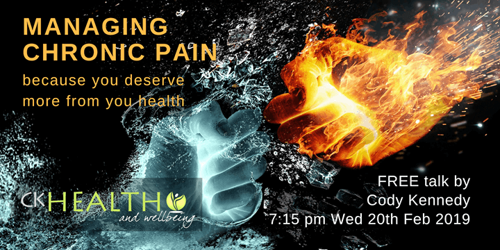 CK Health and Wellbeing Events - Managing Chronic Pain Hands Water Fire
