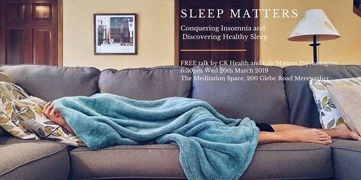 CK Health and Wellbeing Events - Sleep Matters Conquering Insomnia Sleeping in Couch Image
